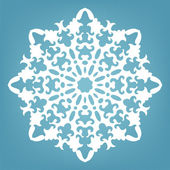 Decorative snowflake, Christmas lace ornament  — Stock Vector