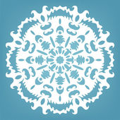 Decorative snowflake, Christmas lace ornament  — Stock Vector