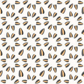 Seamless pattern with sunflower seeds — Stock Vector