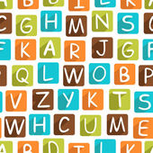 Seamless pattern with funny alphabet — Vetor de Stock