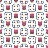 Kesintisiz renkli dekoratif çiçek deseni — Stok Vektör