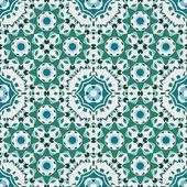 Sömlös geometriska mandala mönster — Stockvektor