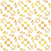 Seamless pattern with alphabet — Stock Vector