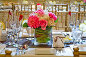 Table Setting at Wedding — Stock Photo