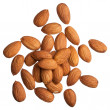 Almonds isolated on white background — Stock Photo #18138949