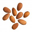 Almonds isolated on white background — Stock Photo #18308747