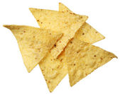 Tortilla chips isolated on white background — Stock Photo