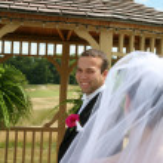 Groom looking at Bride — Stock Photo #20145541