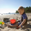Toddler at Beach — Stock Photo