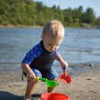 Stock Photo: Toddler at Beach