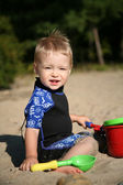 Toddle at beach — Stock Photo