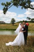 Bride and Groom — Стоковое фото