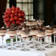 Dessert Table at Wedding Reception — Stock Photo #21979609