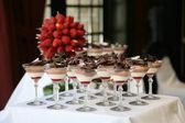 Dessert Table at Wedding Reception — Stock Photo