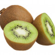 Kiwi cut in half isolated on white background — Stock Photo