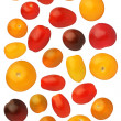 Cherry tomatoes isolated on white background, close up — Stock Photo