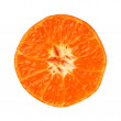 Clementine tangerine half isolated on white background — Stock Photo