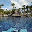 Tropical resort swimming pool in Punta Cana, Dominican Republic — Stock Photo #43768787