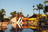 Kids water park with water slides in Dominican Republic, Punta C — ストック写真