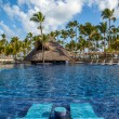 Tropical resort swimming pool in Punta Cana, Dominican Republic — Stock Photo #45583271