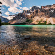 Stock Photo: Icefields Parkway Bow Lake With Mountains