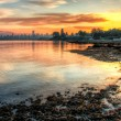 Vivid Sunrise Over Vancouver — Stock Photo
