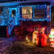 House Decorated with Christmas Lights — Stock Photo