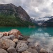 Lake Louise Tranquil Green Lake — Stock Photo