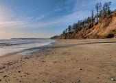 Vast Empty Beach With Pebbles — Stock Photo