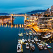 Burrard Street Bridge in Downtown Vancouver — Stock Photo