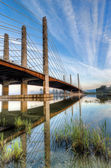 Pitt River Bridge With Clear Skies — Stock Photo