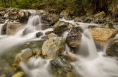 Mini Waterfalls Over Rocks — Stock Photo