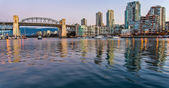 Burrard Street Bridge From Granville Island — Stock Photo