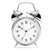 Relógio despertador em branco — Foto Stock