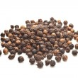 Black pepper on white background isolated — Stock Photo