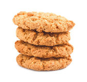 A stack of chip cookieson a white background — Stock Photo