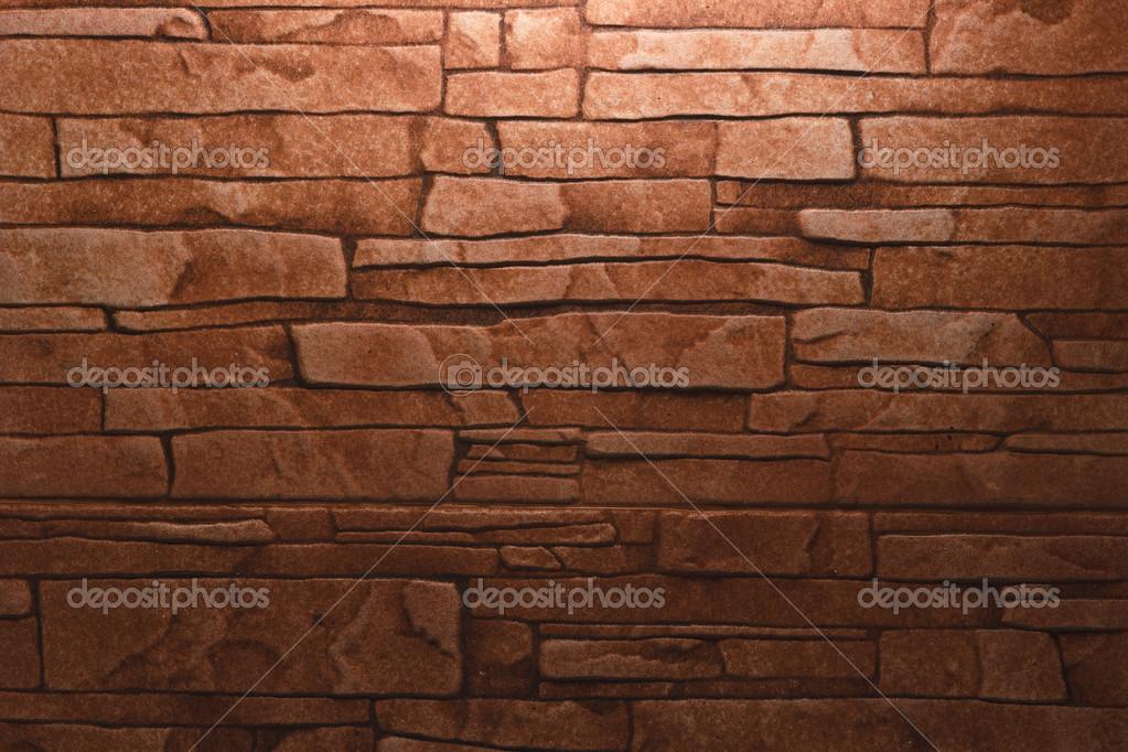 砖墙壁和木地板