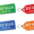 Colorful promotional labels set on white - Imagen vectorial
