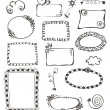 Frames and design elements collection hand drawn — Stock Vector