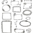 Frames and design elements collection hand drawn — Stock Vector #24386279