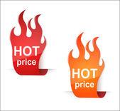 Precio caliente etiquetas en blanco — Vector de stock