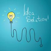 Bombilla de idea con alambre — Vector de stock