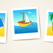 Beach photo cards — Stock Vector