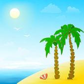 Spiaggia a mano illustrazione — Vettoriale Stock