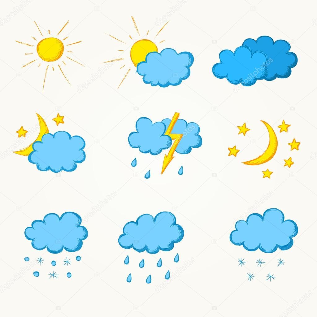 天气手绘图标集