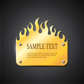 Fire gold sign — Stock Vector