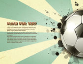 футбольный мяч на винтаж гранж-фон — Cтоковый вектор