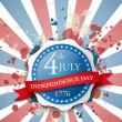 USA independence day label — Stock Vector