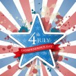 USA independence day label — Image vectorielle