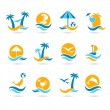 Beach icons — Stock Vector #25330775